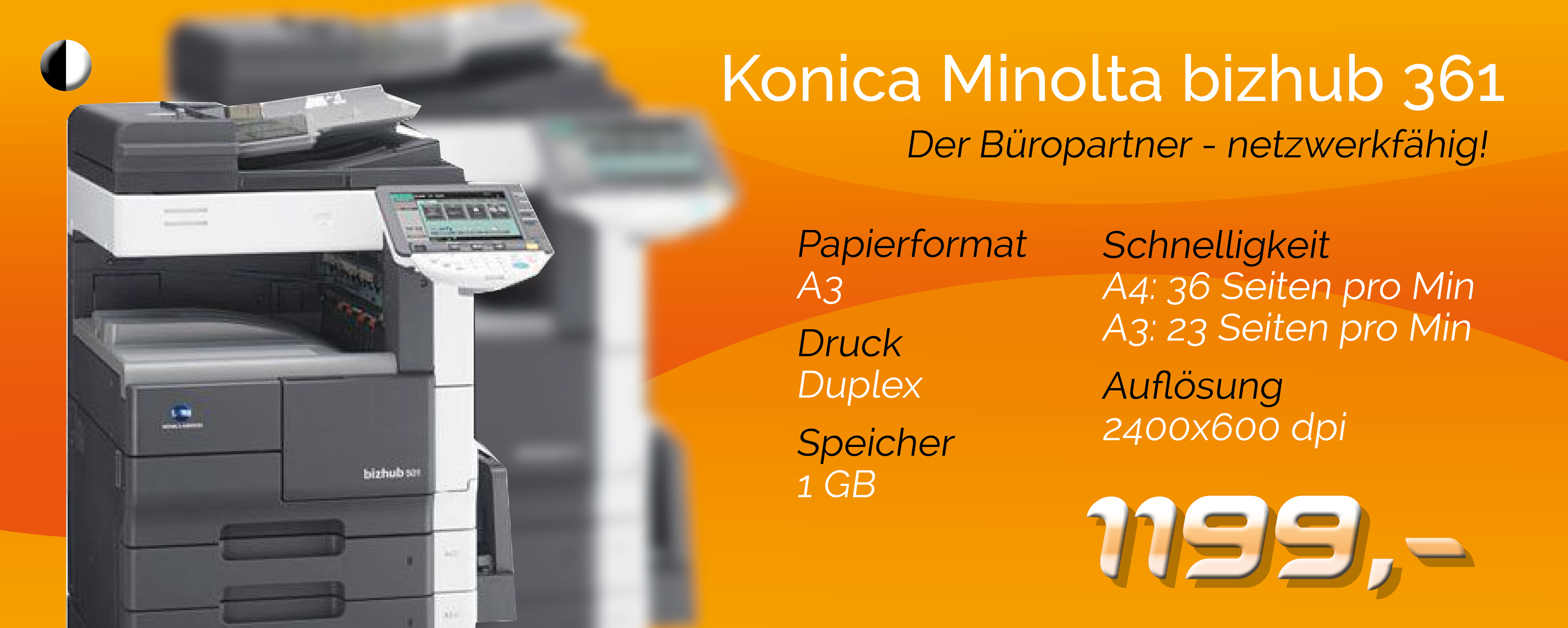 Angebot Konica Minolta bizhub 361